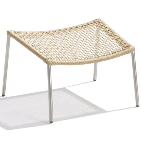 Straw round weave fotpall i natur från Cane-line.