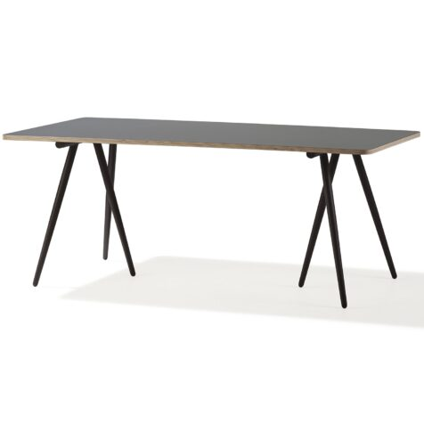 Turn bord 180x90 med brun benställning från Cane-line