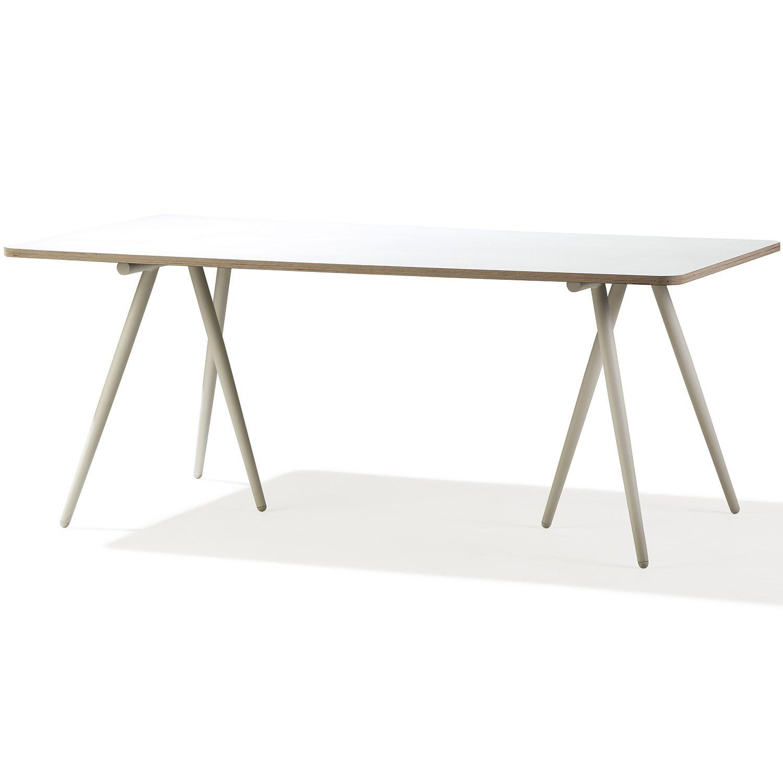 Turn bord 180x90 cm i vitt från Cane-line.