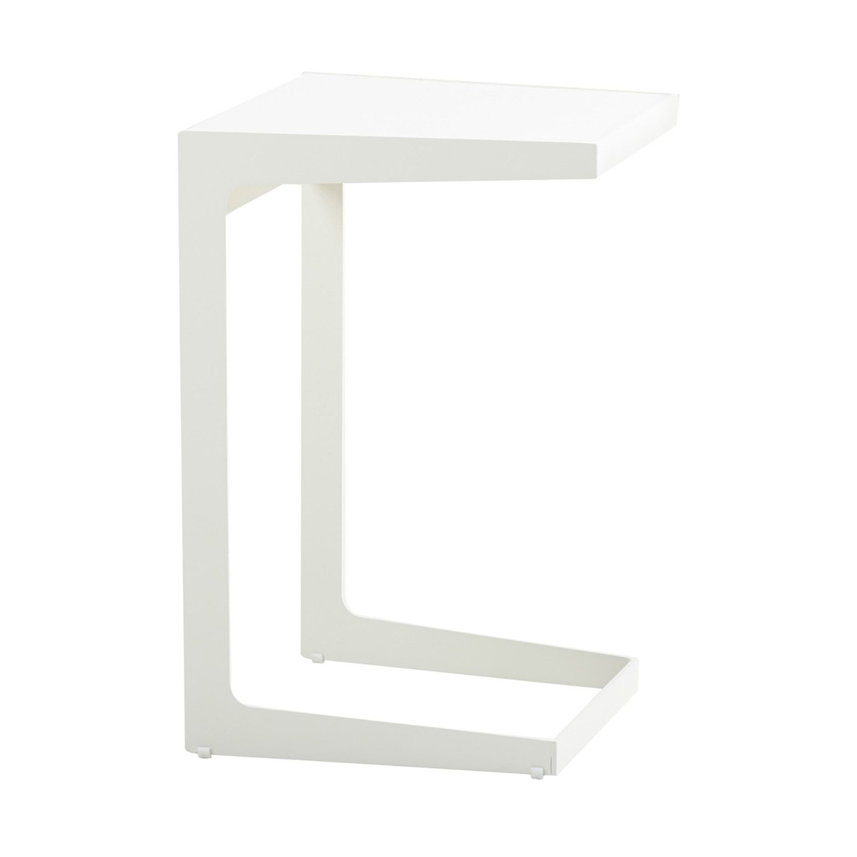 Time-out sidobord i vit aluminium från Cane-line.