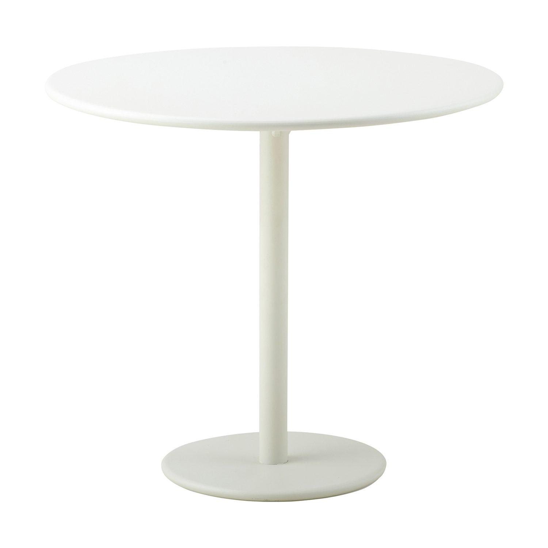 Runt cafébord i vit aluminium från Cane-line.