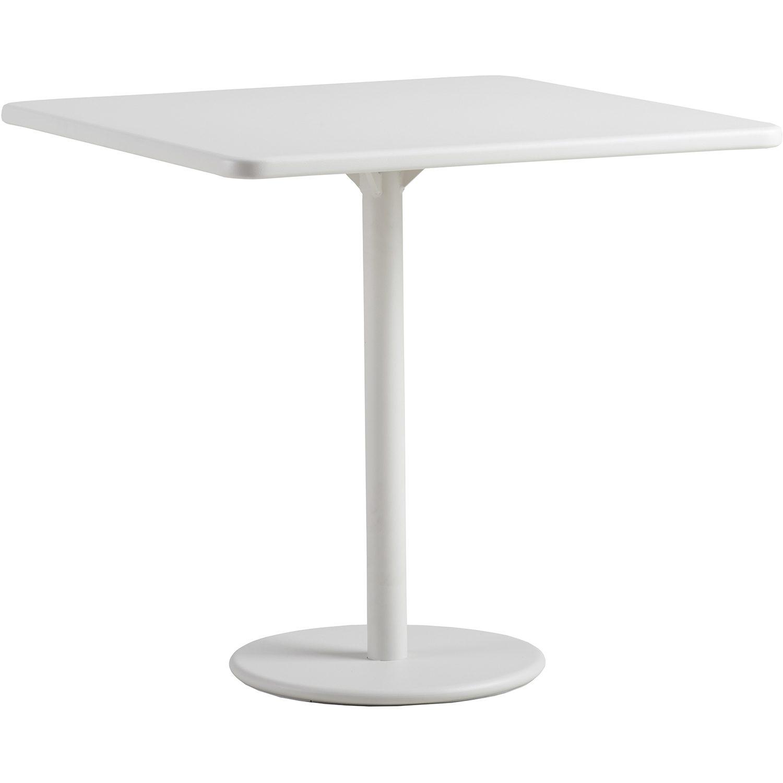 Go cafe bord i vit aluminium 75x75 cm från CAne-line.