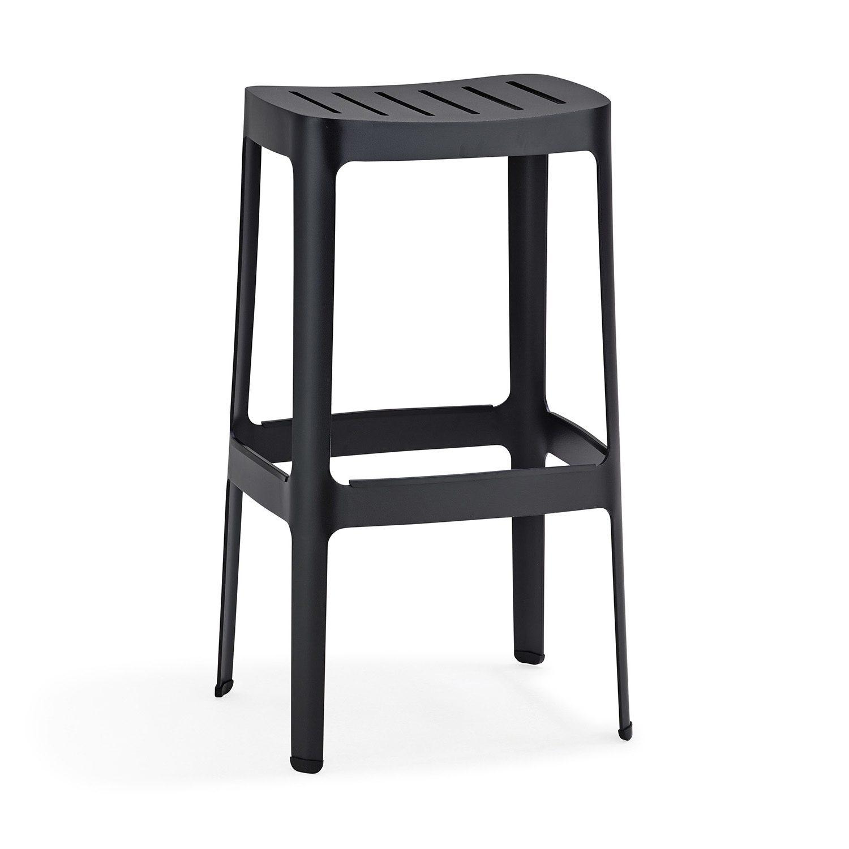Cut barstol tillverkad i svart aluminium från Cane-Line