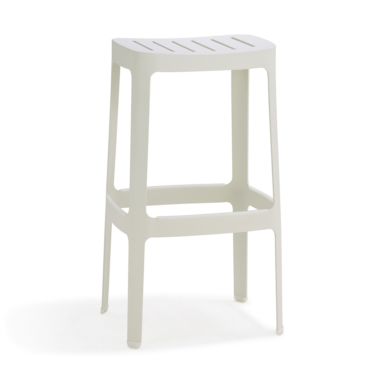 Cut hög stapelbar barstol tillverkad i aluminium från Cane-line