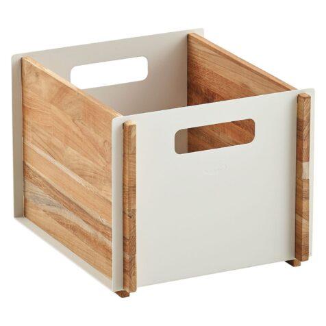 Box förvaringslåda i teak och vit aluminium från Cane-line