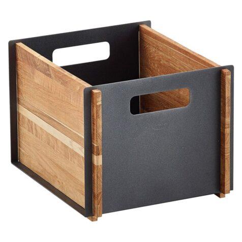 Box förvaringslåda från Cane-line här i färgen lava grå.