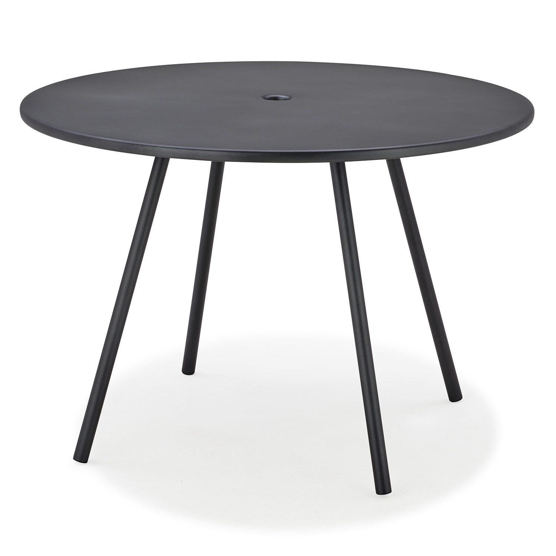 Runt matbord i aluminium från Cane-line, 110 cm.