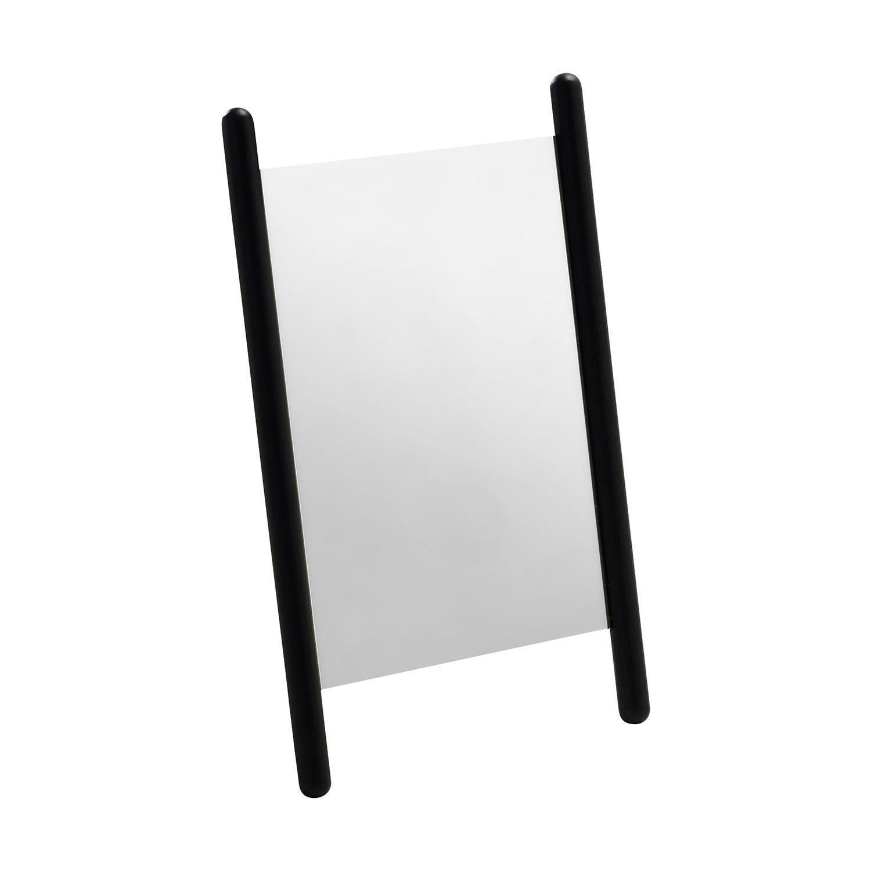 Georg liten spegel i svart från skagerak