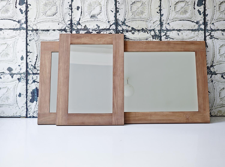 Lucas speglar från Sika Design i återvunnen teak.