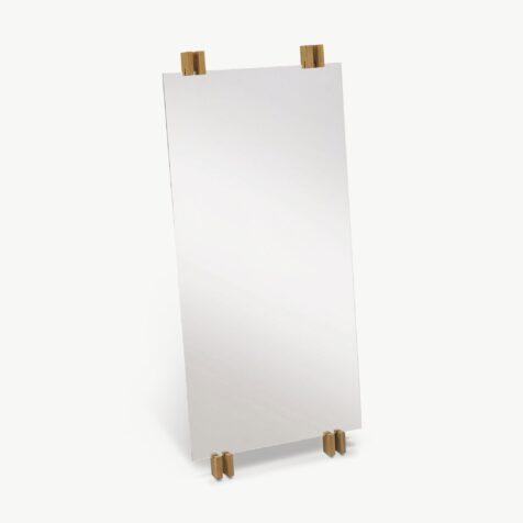 Cutter spegel från Skagerak med teak-detaljer
