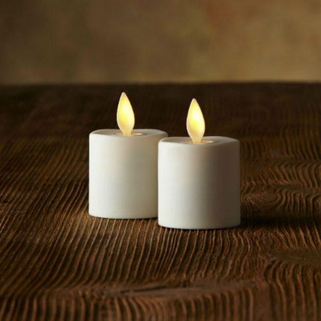 Luminaras värmeljus i färgen Ivory.