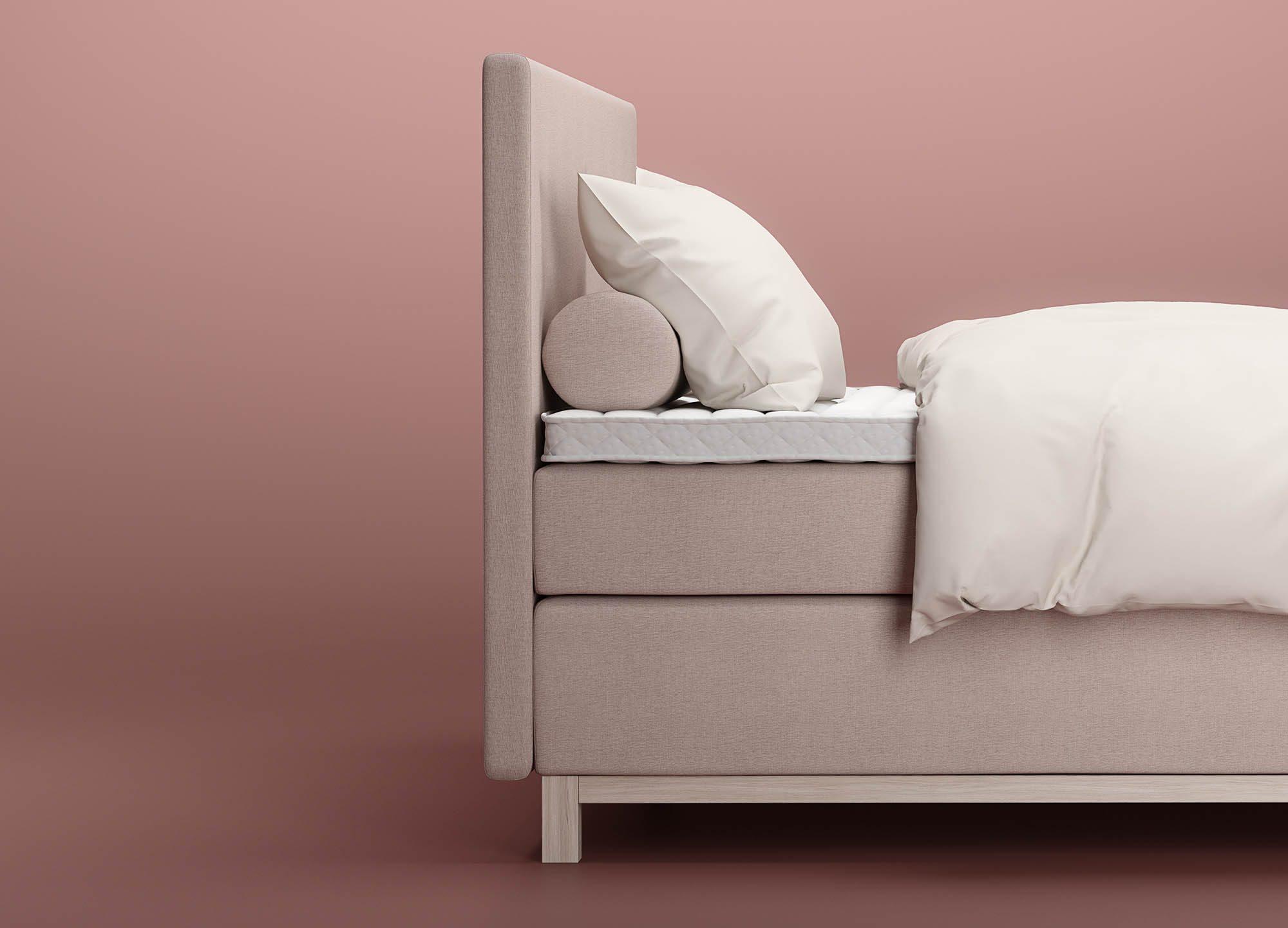 W400 sänggavel från Wonderland med Tube gavelkuddar.