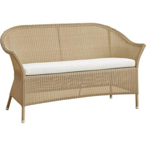 Lansing soffa i natur med vit dyna.