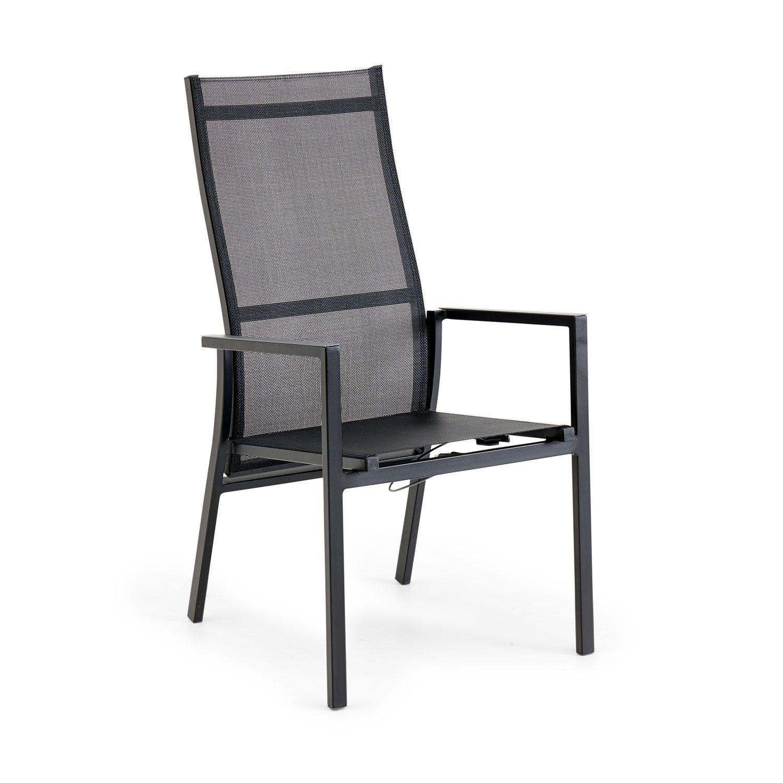 Avanti positionsstol i grå aluminium och textilene från Brafab.