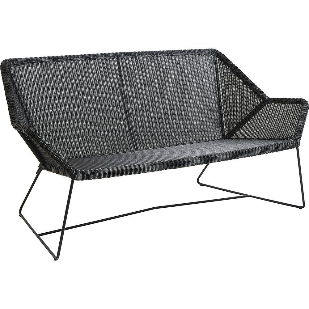 Breeze soffa i svart från Cane-Line.