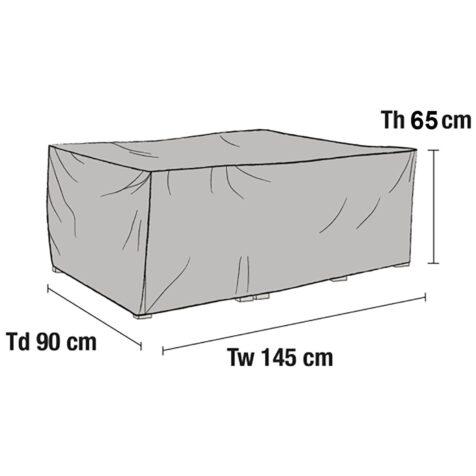 Ritning av möbelskyddet 1229-7 för soffor.