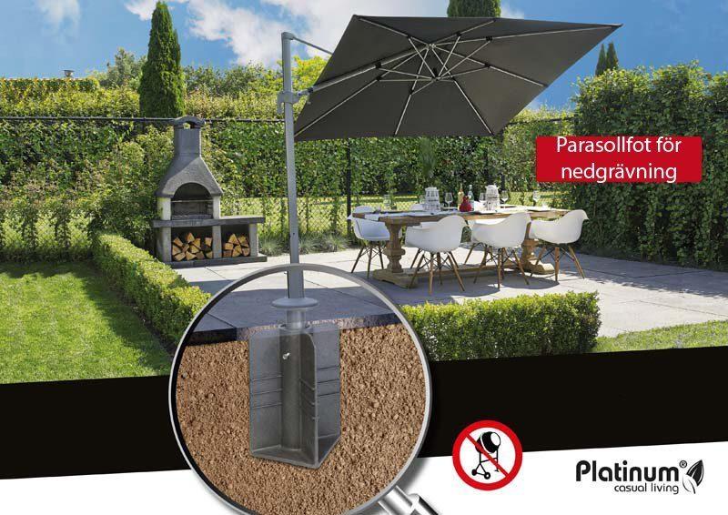 Miljöbild av parasollfor för nedgrävning från Platinum