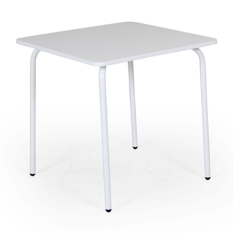 Nera barnbord i v itmålad stål, från Brafab