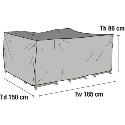 Möbelskydd till matgrupp 165x150 cm från Brafab.