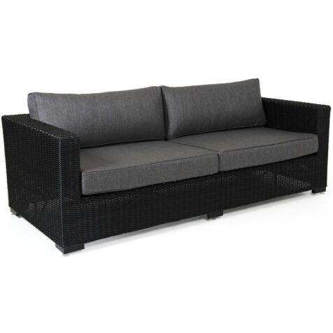 Ninja soffa i svart halvrund konstrotting och stomme i aluminium inklusive grått dynset från Brafab.