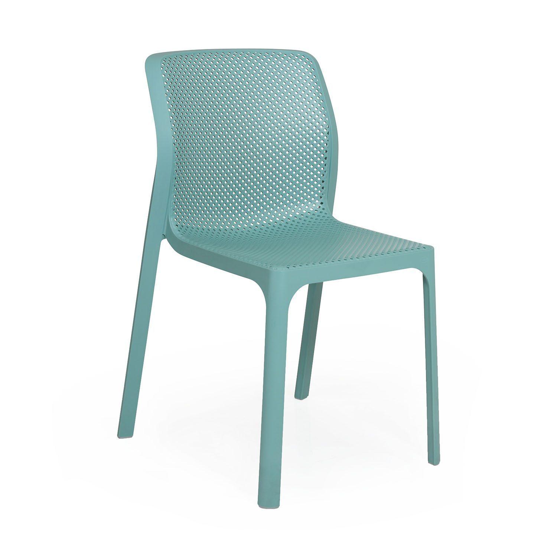 Net stapelstol i grönt från Brafab.