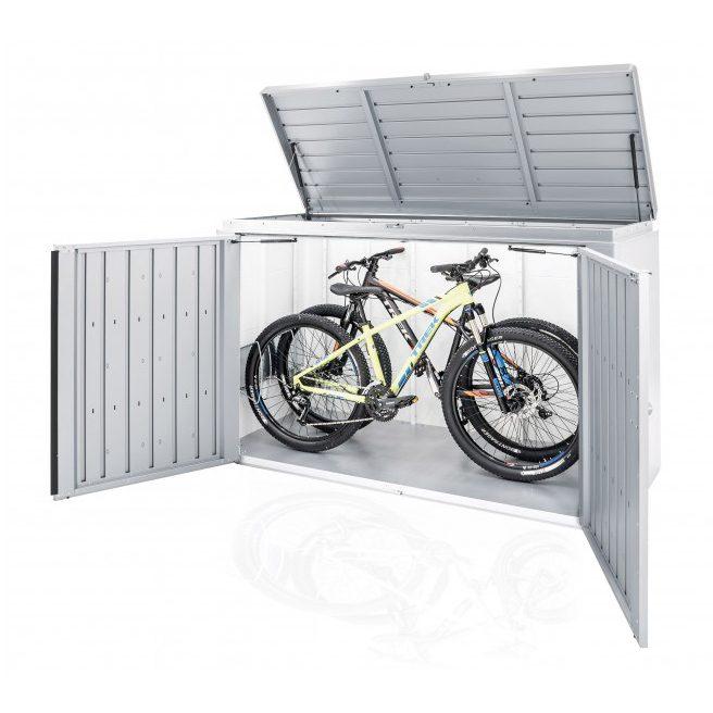 Cykelförvaring i HighBoard förvaringsbox från Biohort