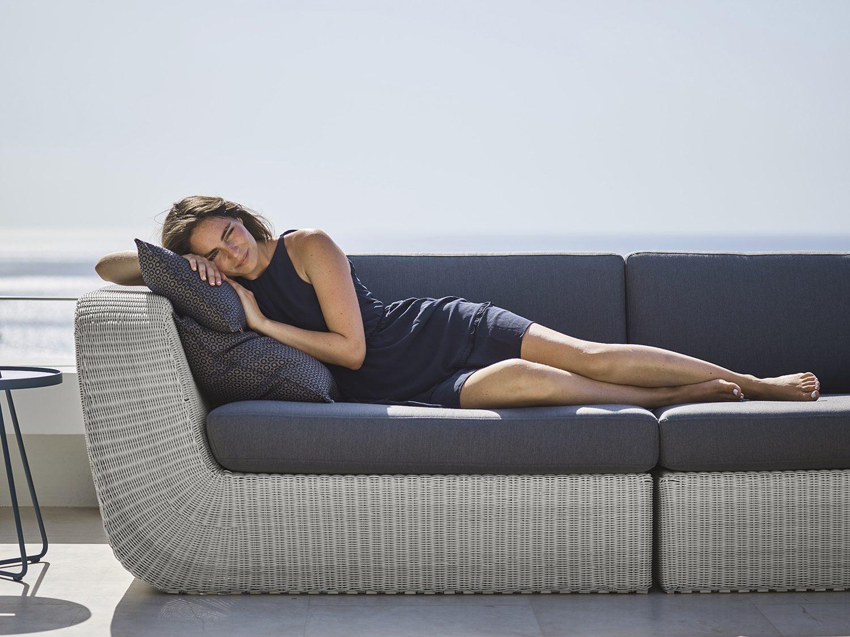 Savannah soffa avslut i vitgrå konstrotting.