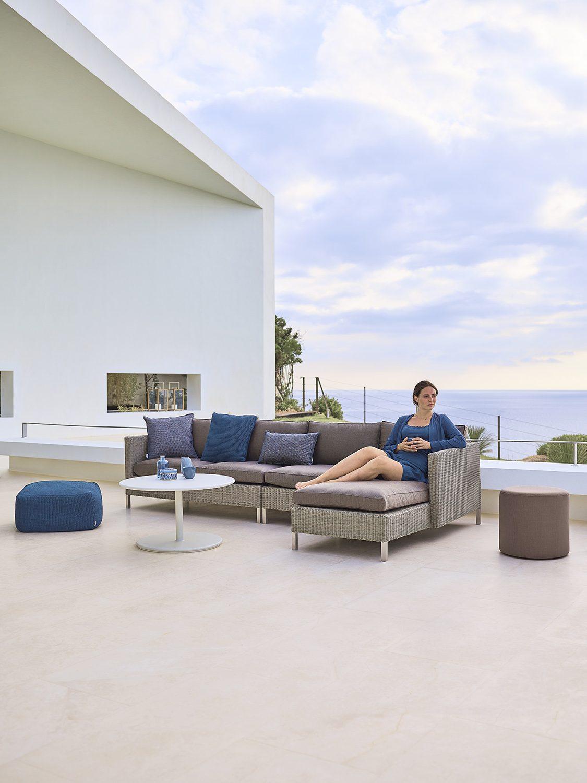 Connect loungesoffa med Go soffbord.