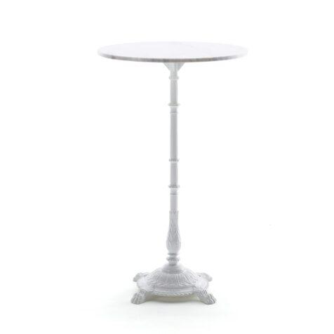 Classic ståbord från Byarums Bruk vitlackad aluminium och marmor.