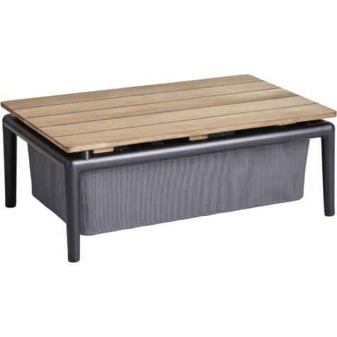 Conic boxbord till loungegrupp från Cane-Line.