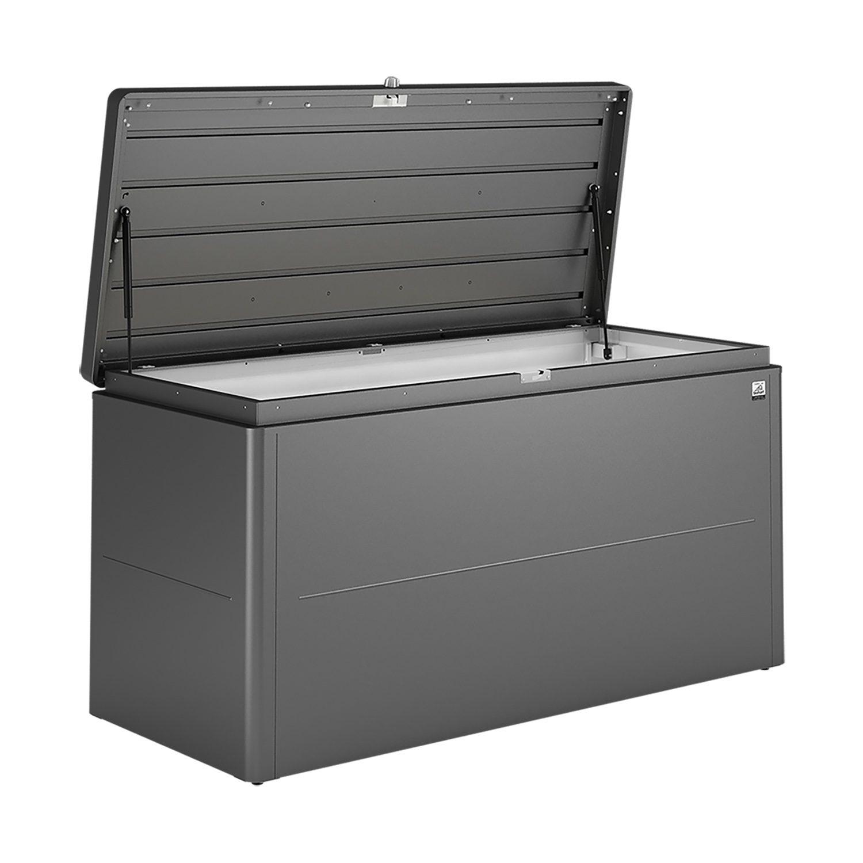 Loungebox förvaringsbox från Biohort i mörkgrå