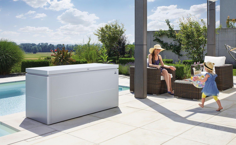 Miljöbild av LoungeBox 160 silver från Biohort