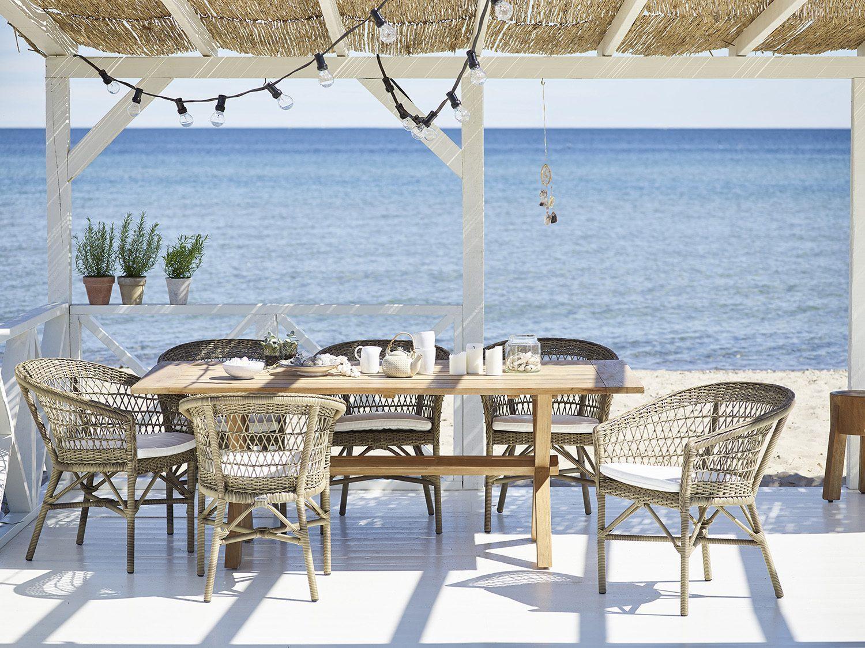 EMma matstolar från Sika-Design med Colonial bord i teak.