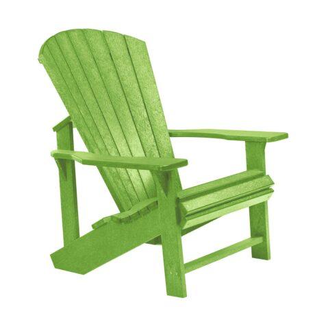 Adirondackstol i återvunnen plast, här i kiwigrönt.