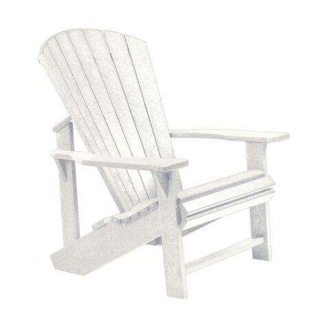 Adirondackstol i återvunnen plast, här i vitt.