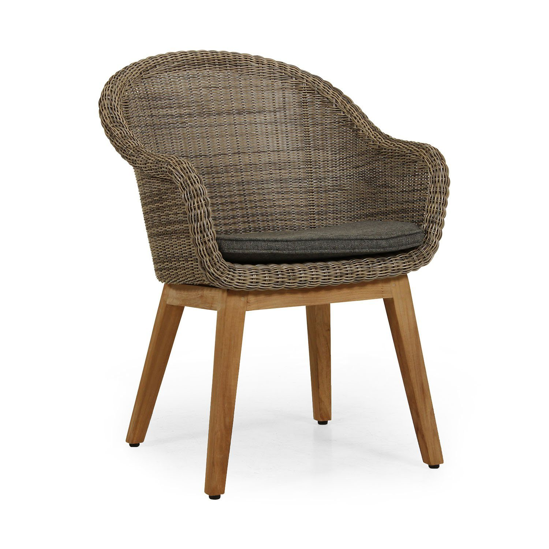 Beverly karmstol från Brafab inklusive grå sittdyna.