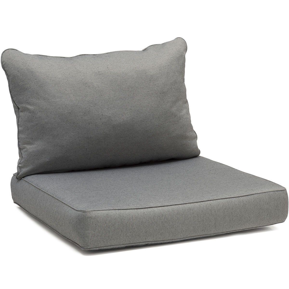 Litnäs sits- och ryggdyna i grått för mittdel.