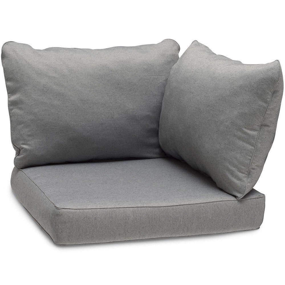 Lidnäs ryggkuddar och sitsdyna för hörn i grått.