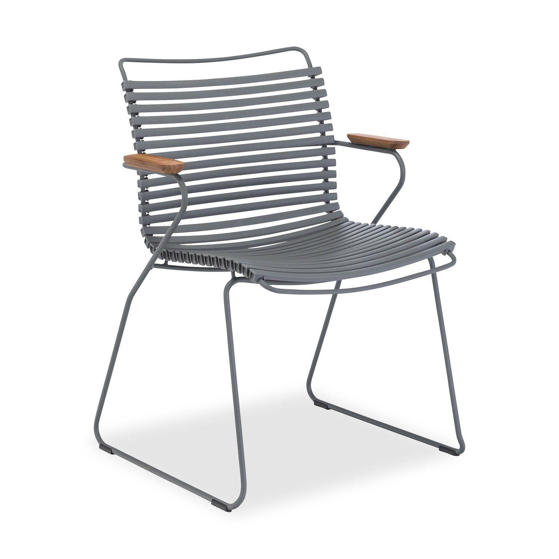 Click karmstol från Houe i mörkgrått.