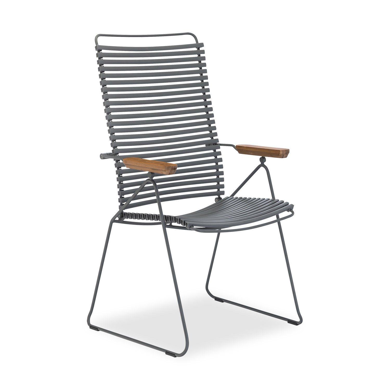 Click positionsstol från Houe i mörkgrått.