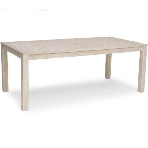 Wellington matbord i vitkalkad teak.