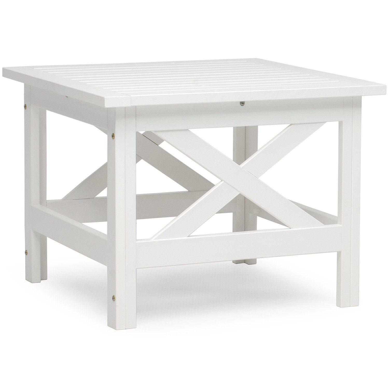 Läckö bord i vitlaserad furu från Hillerstorp.