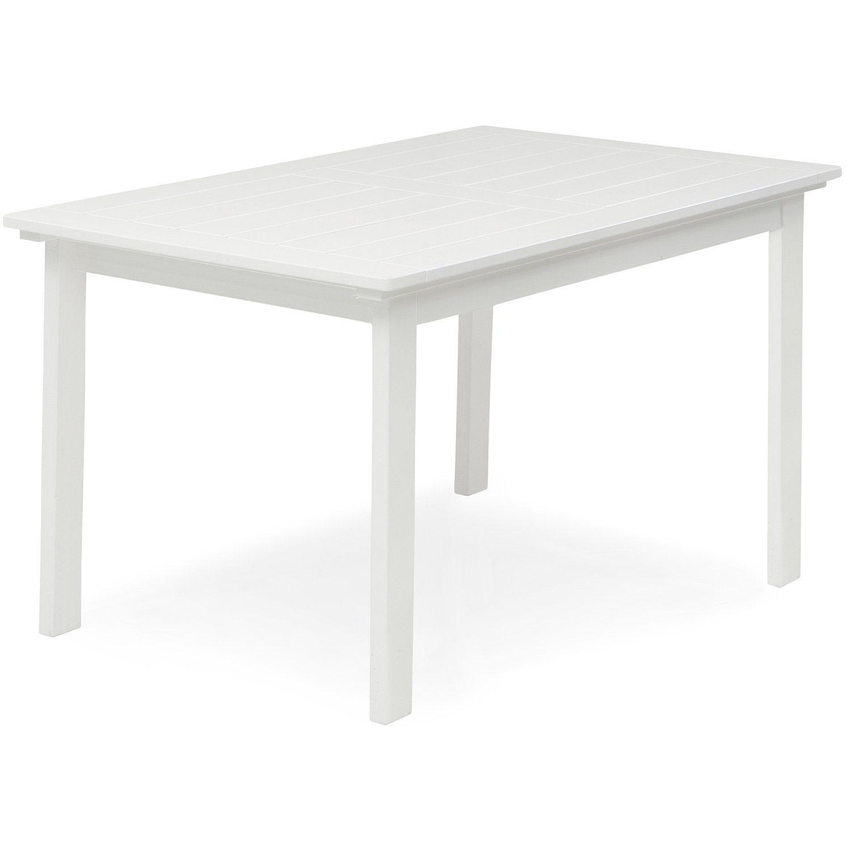 Läckö matbord 135x80 cm i vitlaserad furu av Hillerstorp.