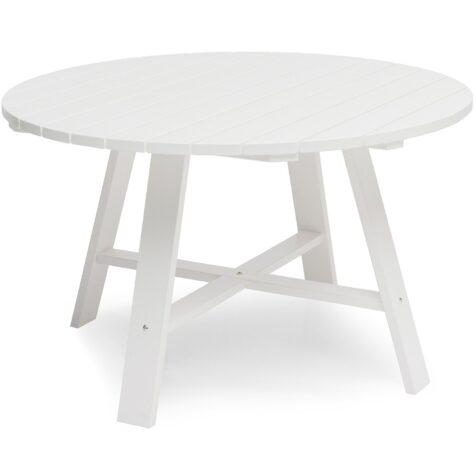 Läckö matbord i vitt 120 cm i diameter från Hillerstorp.