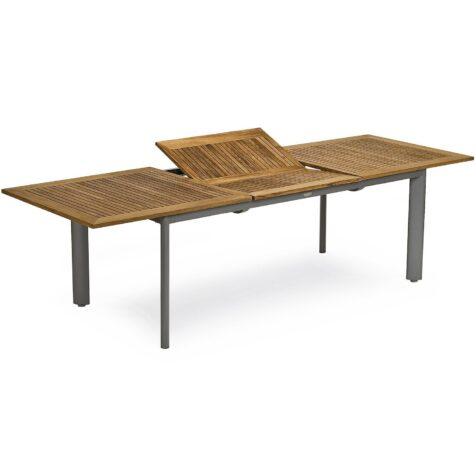 Nydala förlängningsbord i aluminium och teak.