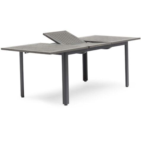 Svart och grått förlängningsbord i aluminium från Hillerstorp.