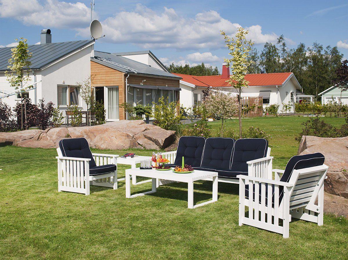 Gotland soffgrupp ivitlaserad furu från hillerstorp.
