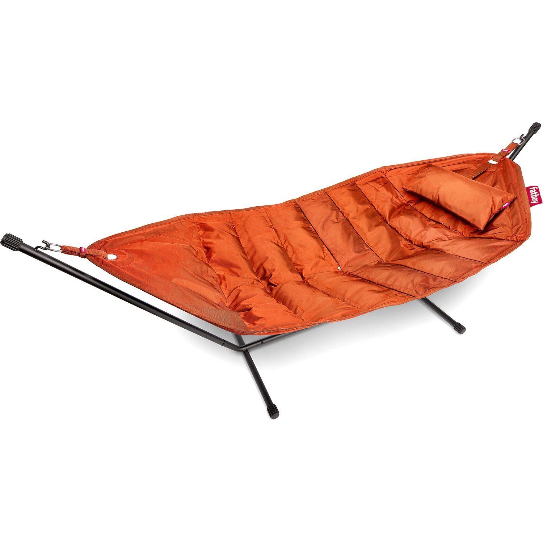 Headdemock hängmatta från Fatboy i färgen orange med kudde.