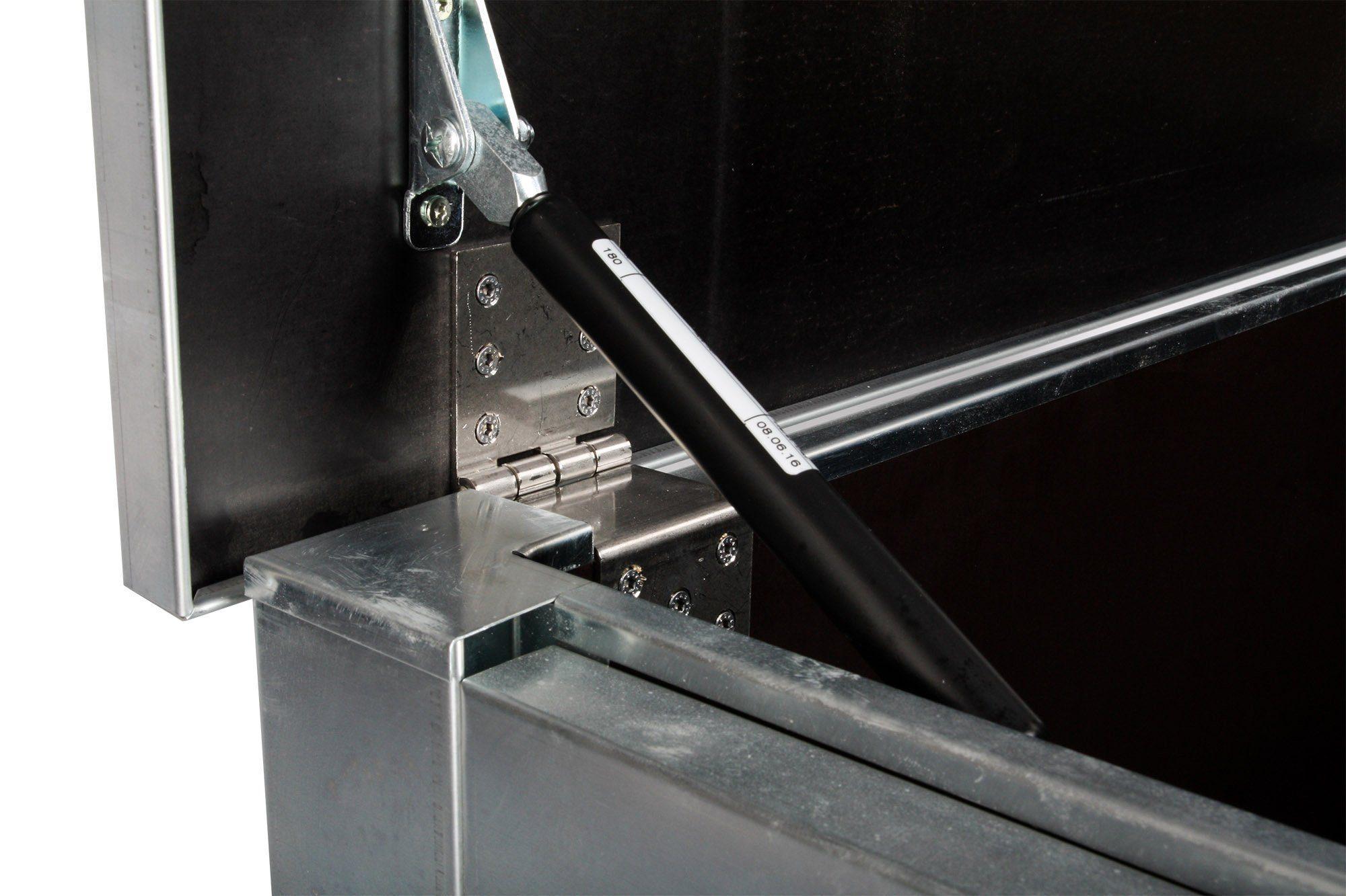 Detaljbild på förvaringslåda i zink från Altinii.