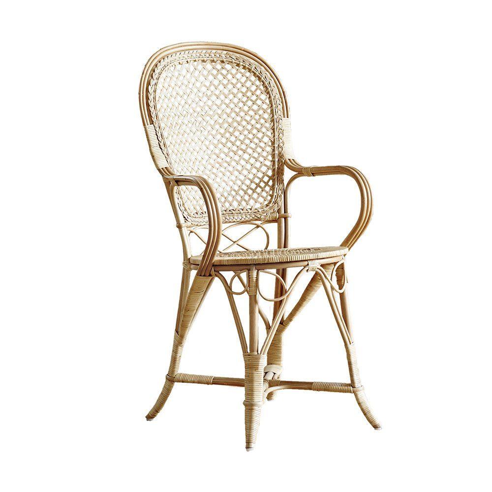 Fleur stol i naturfärgad rotting designad av R Wengler.